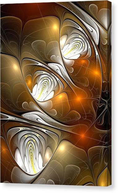 Brown Canvas Print - Carefree by Anastasiya Malakhova