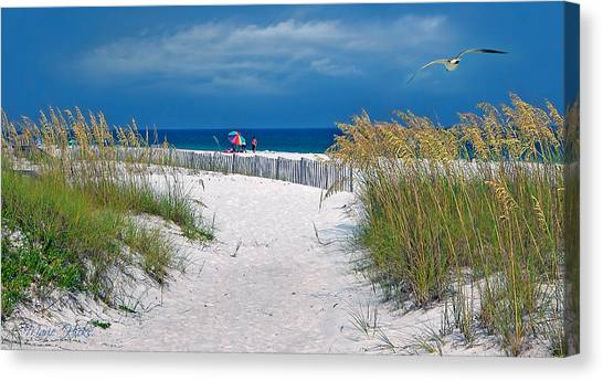 Carefree Days By The Sea Canvas Print