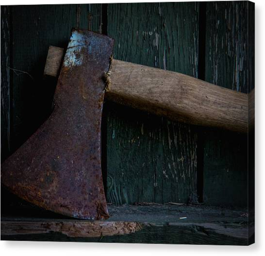 Woodsmen Canvas Print - Careful With That Axe by Odd Jeppesen