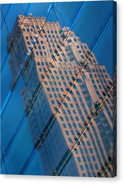 Carew Tower Reflection Canvas Print