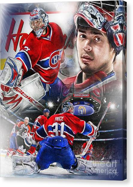 Montreal Canadiens Canvas Print - Carey Price by Mike Oulton