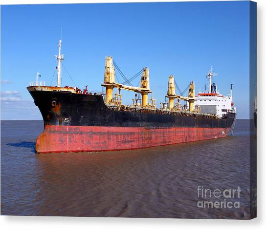 Boat Canvas Print - Cargo Ship by Olivier Le Queinec