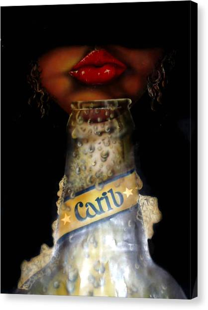 Carib Beer Canvas Print