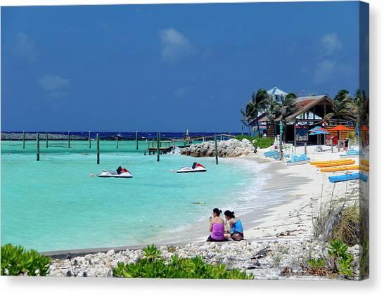 Jet Skis Canvas Print - Caribbean, Bahamas, Castaway Cay by Kymri Wilt