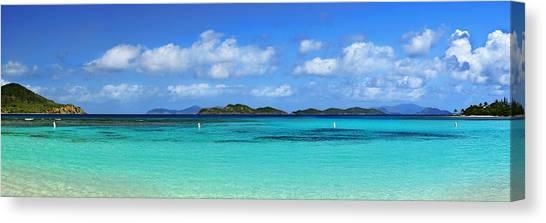 Carribbean Canvas Print - Caribbean Beach Panorama by Luke Moore