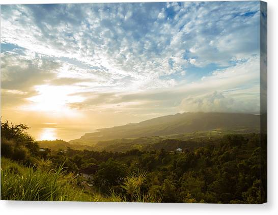 Mount Pelee Canvas Print - Caribbean Dream - Martinique Sunset Over Mount Pelee by Vivienne Gucwa