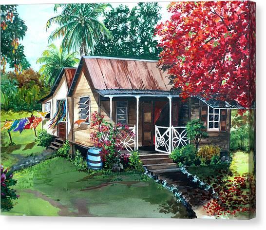 Mango Tree Canvas Print - Caribbean Life by Karin  Dawn Kelshall- Best
