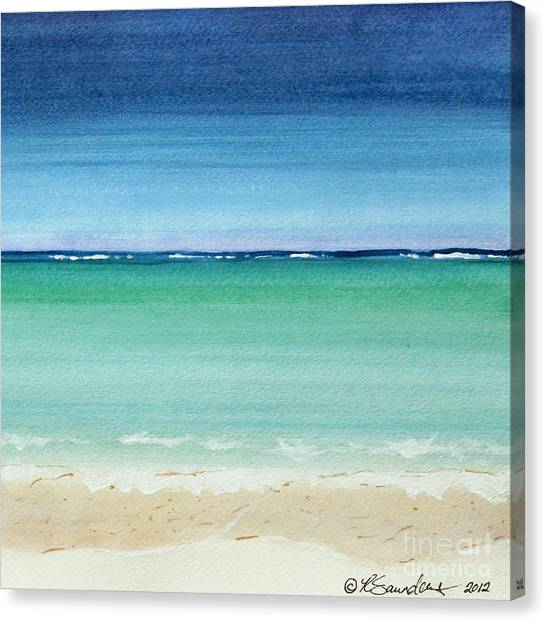 Reaf Ocean Turquoise Waters Square Canvas Print