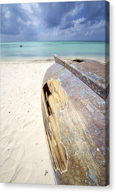 Caribbean Shipwreck Canvas Print