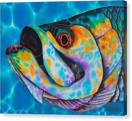Caribbean Tarpon Fish Canvas Print