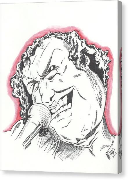 Caricature Joe Cocker Canvas Print