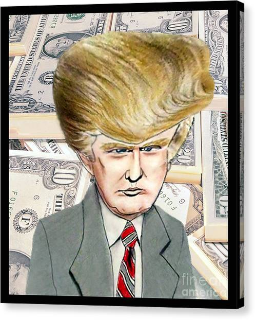 Wwe Canvas Print - Caricature Of Donald Trump by Jim Fitzpatrick