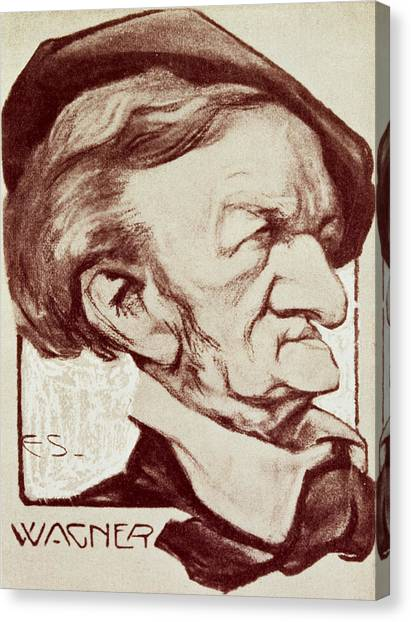 Crt Canvas Print - Caricature Of Richard Wagner by Anonymous