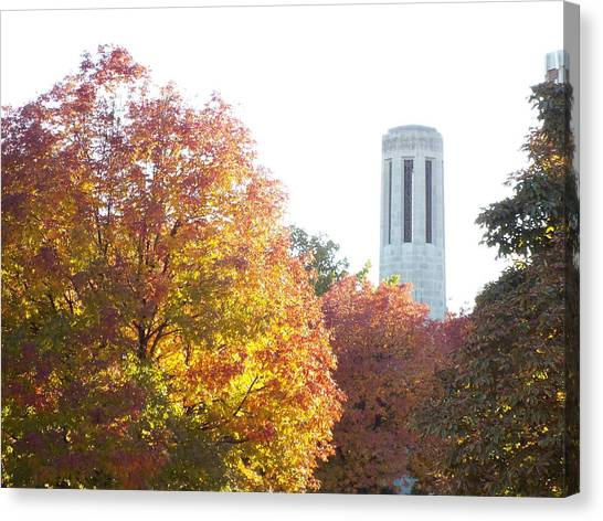 University Of Nebraska Canvas Print - Carillon Fall by Caryl J Bohn