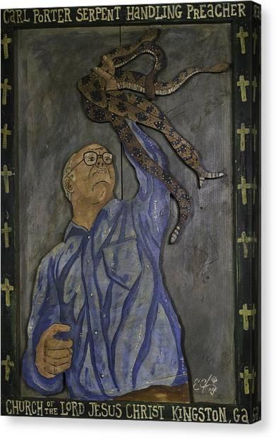 Carl Porter - Serpent Handling Preacher Canvas Print