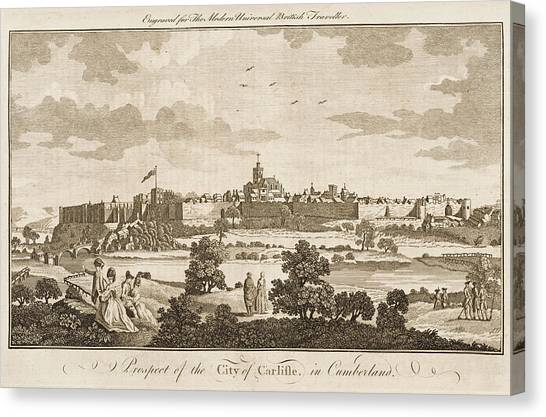 Carlisle, Cumbria, England     Date 1779 Canvas Print by Mary Evans Picture Library