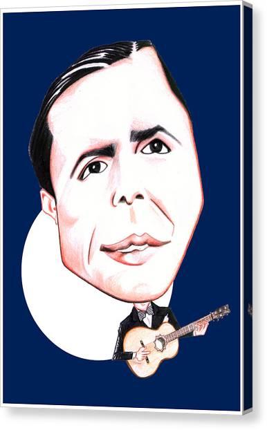 Carlos Gardel Illustration Canvas Print by Diego Abelenda