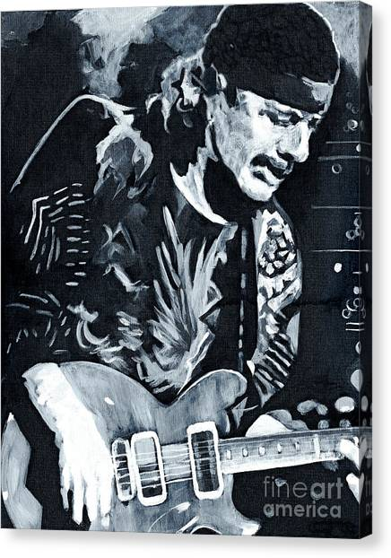 Carlos Santana - Black Magic Woman Canvas Print