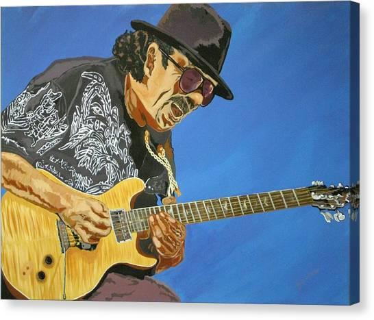 Carlos Santana-magical Musica Canvas Print