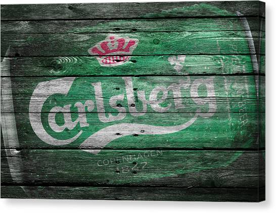 Beer Can Canvas Print - Carlsberg by Joe Hamilton