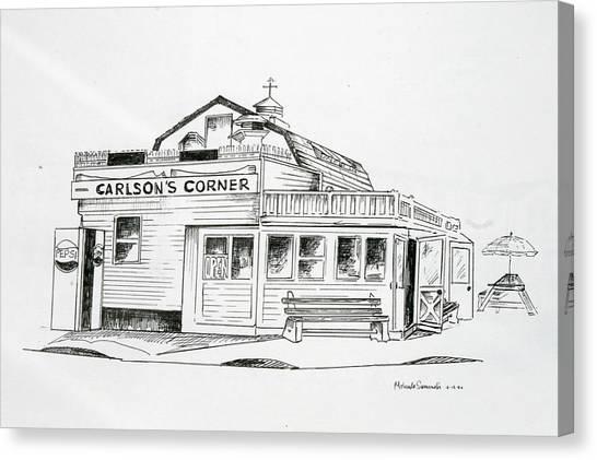Carlsons Corner Manasquan Canvas Print