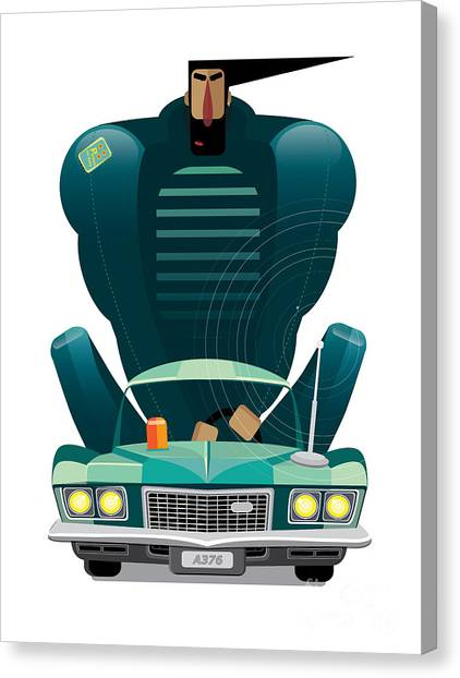 Elegance Canvas Print - Car&man by Arisys
