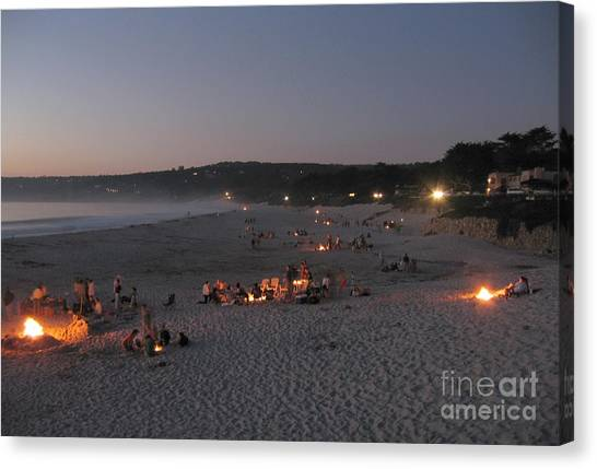 Carmel Beach Bonfires Canvas Print