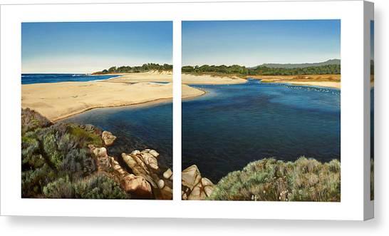 Canvas Print - Carmel Lagoon Beach by Logan Parsons