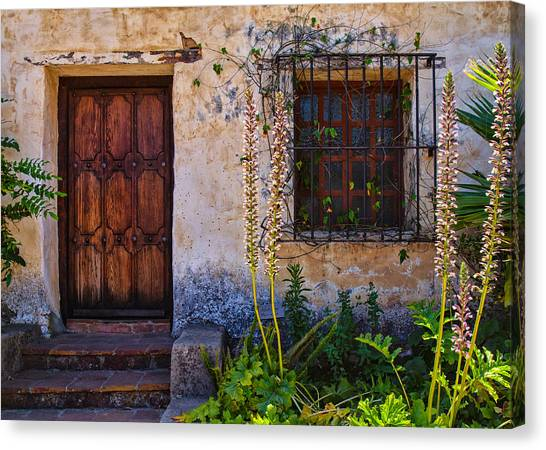 Carmel Mission Living Quarters Canvas Print