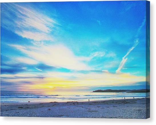 Sunset Horizon Canvas Print - Carmel Sunset Five by Freya Doney