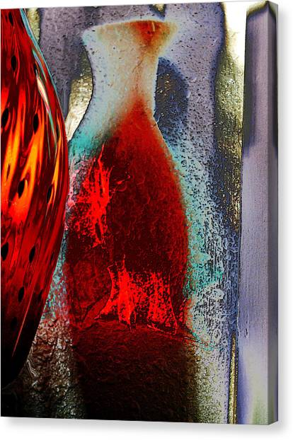 Carmellas Red Vase 1 Canvas Print