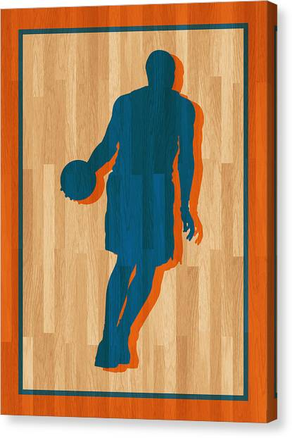 New York Knicks Canvas Print - Carmelo Anthony New York Knicks by Joe Hamilton