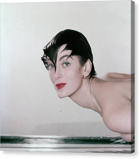 Carmen Dell'orefice Demonstrating Waterproof Canvas Print by John Rawlings
