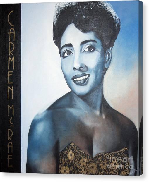 Carmen Mcrae Canvas Print
