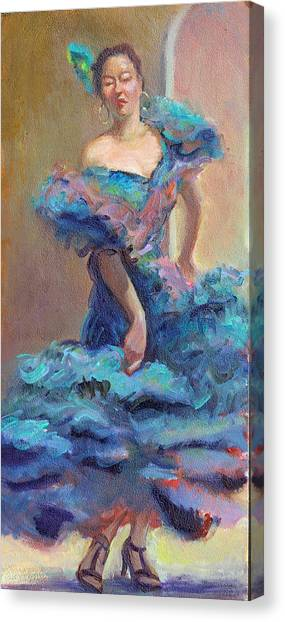 Carmencita Dances Canvas Print by Gwen Carroll