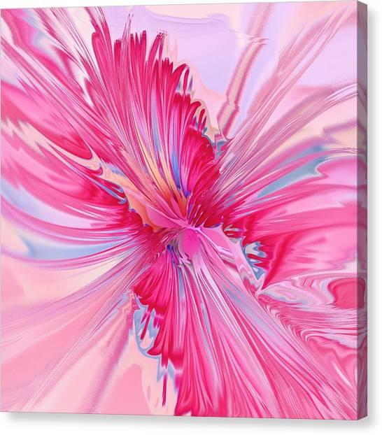 Glass Canvas Print - Carnation Pink by Anastasiya Malakhova