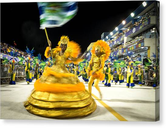 Carnaval - Brazil 2016 Canvas Print by Global_Pics