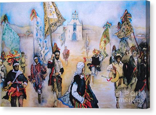 Carnaval In Chiapas II Canvas Print