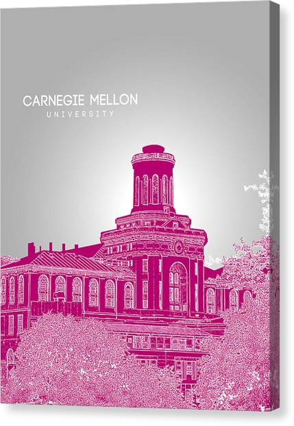 Carnegie Mellon University Canvas Print - Carnegie Mellon University Hamerschlag Hall by Myke Huynh