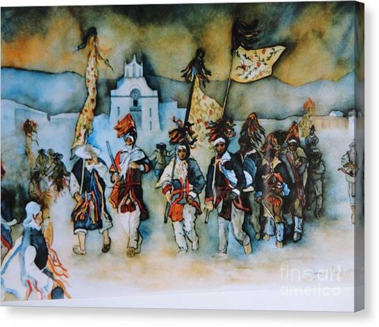 Carneval En Chiapas Canvas Print