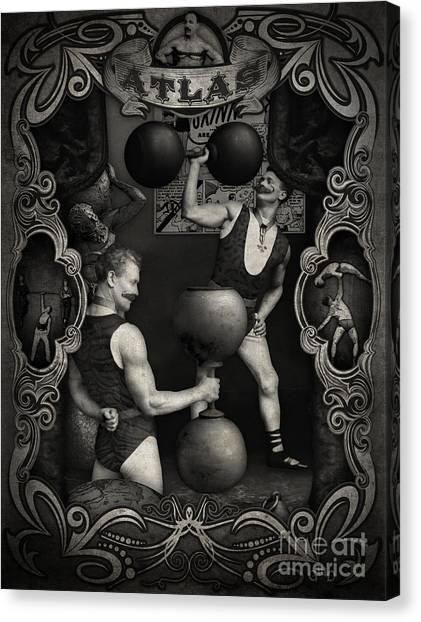 Carnival Banner - Atlas The Strong Man Canvas Print