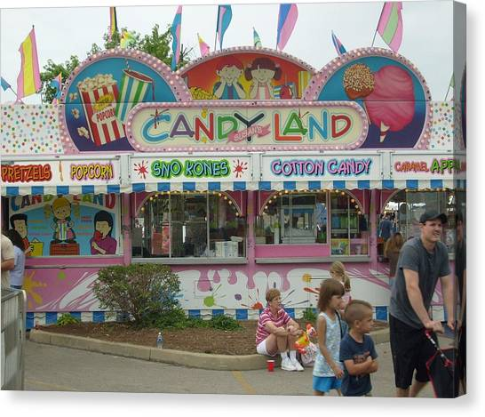 Carnival Candy Land Canvas Print by Ann Willmore
