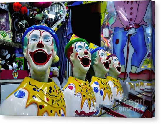Carnival Clowns Canvas Print