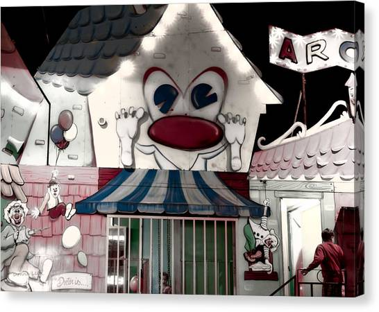Carnival Fun House Canvas Print