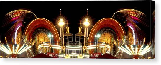 Carnival Light Patterns At Night Canvas Print