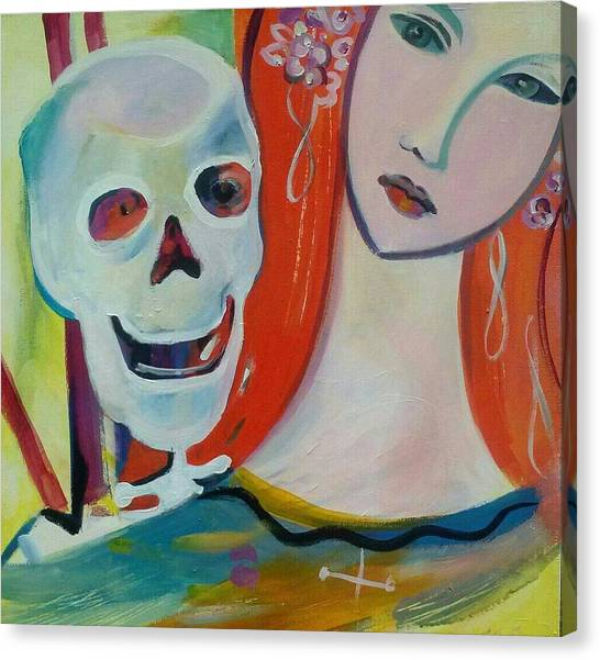 Carnival Of Bones Canvas Print by Marlene LAbbe