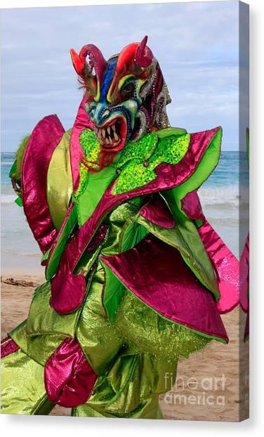 Carnival On The Beach Canvas Print
