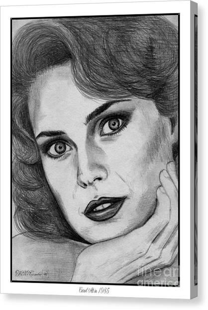Canvas Print - Carol Alt In 1985 by J McCombie