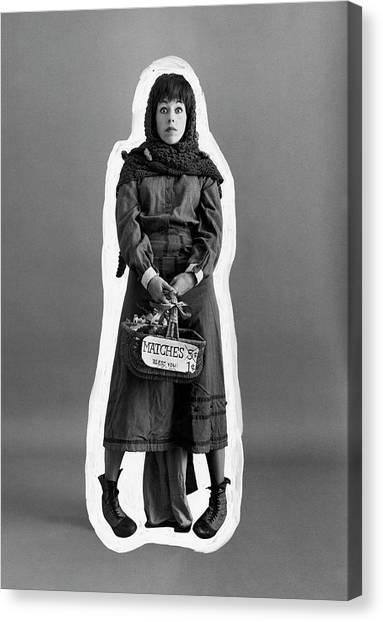 Carol Burnett Dressed As A Match-girl Canvas Print by Leonard Nones