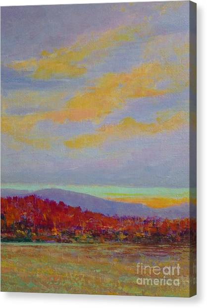 Carolina Autumn Sunset Canvas Print